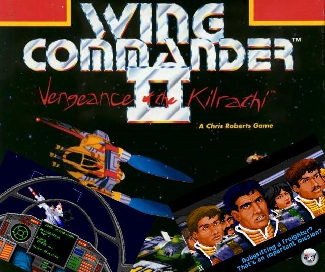 <b>Wing Commander 2: Vengeance of the Kilrathi</b> (Sommer 1991)<br><br>Den Start von Wing Commander 2 verbinden viele Spieler vor allem mit dem Hochdrehen ihrer Lautsprecher: Sprachausgabe! Zwar gab es schon vorher Spiele, in demem das eine oder andere digitalisierte Wort fiel, aber niemals in solcher Menge wie im WC2-Intro - und vor allem nicht in solcher Qualität. Gut betuchte Spieler konnte sogar nochmal 60 Extra-D-Mark latzen und sich das »Speech Accessory Pack« kaufen, das zusätzliche Funksprüche ins Spiel hievte. Für WC2 gab Chris Roberts die verzweigende Missionsstruktur des Vorgängers zugunsten einer dichteren Story auf: Blair wird Zeuge der Zerstörung der Tiger's Claw durch brandneue Kilrathi-Tarnkappenbomber. Aber da das sonst keiner gesehen hat und ihm natürlich keiner glaubt, wird er von Admiral Tolwyn als Verräter gebrandmarkt, degradiert und an den Arsch des Universums versetzt - von wo aus er nicht nur seine Unschuld beweisen, sondern auch den Rest der Konföderation vor der neuen Gefahr warnen muss. Auch WC2 erhielt zwei Add-Ons, die »Special Operations 1&2«. 2160128