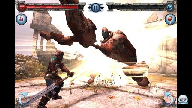 Das Kampfsystem orientiert sich deutlich an Infinity Blade, bietet aber nicht dessen taktische Tiefe.