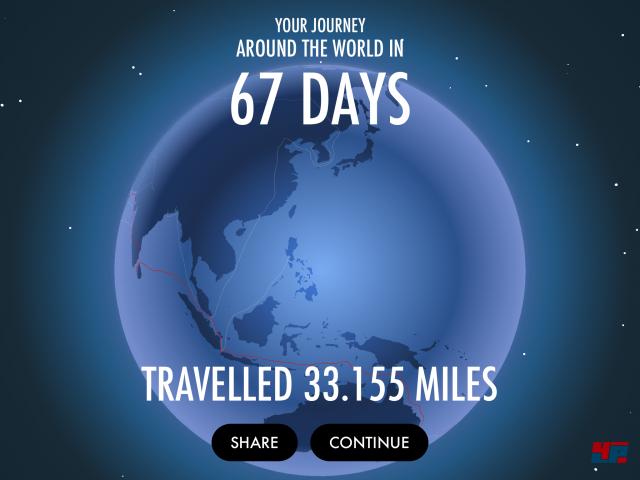 Unser aktueller Rekord: In 67 Tagen um die Welt!