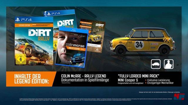 Legend Edition von DiRT Rally f�r PS4 und Xbox One