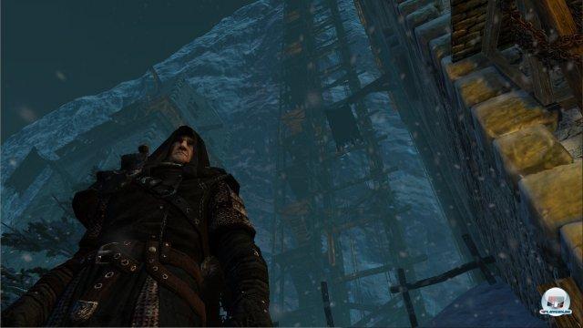 Man spielt abwechselnd zwei Charaktere: Hier der b�rbei�ige Mors, der bei der Nachtwache als Grenzer dient.