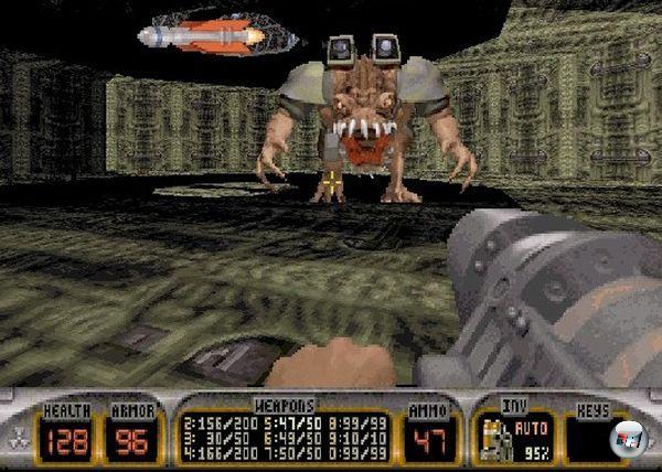 <b>Duke Nukem</b><br><br>Die ersten beiden Teile waren tolle Jump-n-Runs, der dritte ein ph�nomenaler Ego-Shooter. F�r den vierten, der bestimmt schnell entwickelt sein d�rfte, k�nnte man sich ein ebenso unterhaltsames Wortspiel ausdenken wie �Duke Nukem 3D�, denn �Duke Nukem 4� klingt ein bisschen �de. Hmmmm... �Duke Nukem 4�... �Duke Nukem Four�.... hmm... �Duke Nukem For�... HA! �Duke Nukem Forever�! Heureka! Das wird bestimmt toll!