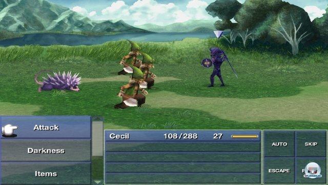 Spielerisch entspricht die iOS-Version dem DS-Original - es warten Kämpfe, die (typisch für das klassische Final Fantasy) sehr anspruchsvoll sind.