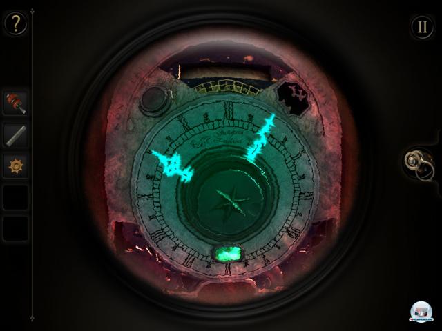 Wer das Okular einsetzt, bekommt eine andere Sicht auf die Apparate - und kann so Verborgenes sehen.