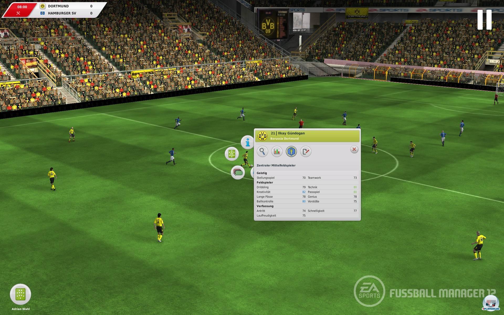 Das 3D-Match bietet nicht nur eine neue Logik und Dynamik, sondern vereinfachte M�glichkeiten, die Mannschaft zu lenken.