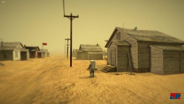 Geheimnisvoll: Ein Dorf? Auf einem fremden Planeten? Ist das ein Trick?