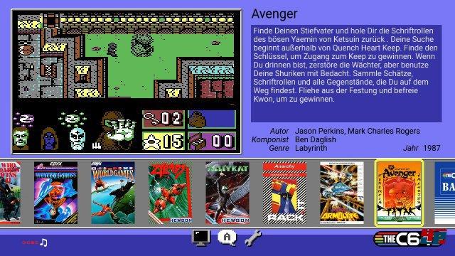 Die über 60 vorinstallierten Spiele werden in einem übersichtlichen Menü präsentiert.