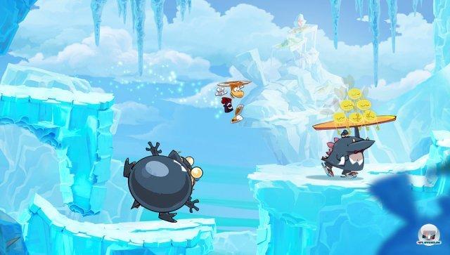 Der Schlittschuh laufende, Feuer speiende Ober ist mit Abstand der coolste Gegner im Rayman-Universum.