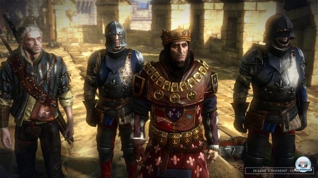Zu Beginn ist man mit König Foltest unterwegs - klasse Charakterdesign, klasse Sprecher.