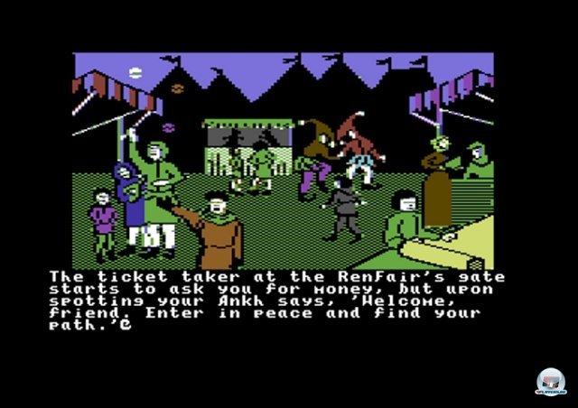 <b>Ultima IV: Quest of the Avatar</b><br><br> Wenn Rollenspieler nach ihrem Lieblingstitel für den C64 gefragt werden, ist die Antwort klar: Ultima IV von Origin. Anders als üblich wurde man nicht auf einen vorgegebenen Bösewicht angesetzt. Stattdessen hatte der Spieler viele Freiheiten bei der Entwicklung seines Charakters zu einem Barden, Paladin, etc. Weitere Rollenspiel-Klassiker für den C64 sind z.B. der Dungeon-Crawler A Bard's Tale und das Endzeit-Abenteuer Wasteland. Letztgenanntes wird momentan übrigens als Kickstarter-Projekt fortgesetzt. 2371837