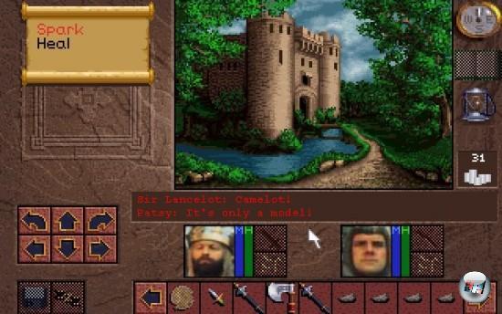 Monty Pythons »Die Ritter der Kokosnuss« wäre knifflig: Ein Rennspiel mit Pferden? Nee, geht nicht - es müssten ja Kokosnüsse sein, und denen fehlt ein gewisses Maß an Grundrasanz! Ein Mittelalter-Geschnetzel wie Medieval 2? Klappt auch nicht, dafür spielen zu wenige Einheiten mit. Aber wie wäre es denn mit einem Rollenspiel à la Dungeon Master? Die Truppe um Arthur, wie sie Schritt für Schritt dem Killerkaninchen aus dem Weg geht. Sir Lancelot, wie er einen Burgwächter nach dem anderen aufschlitzt, und dabei Erfahrungspunkte (Brautjungferneinzelteile) gewinnt. Und natürlich dem nahezu unbesiegbaren Überraschend-auftauchende-britische-Polizeieinheit-Endgegner! 1709682
