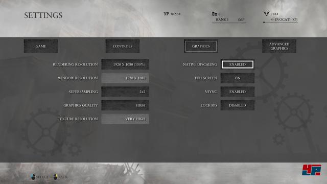 Grafik-Optionen der PC-Version von Ryse, Teil 1