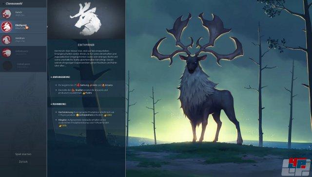 Man darf vor dem Spielstart zwischen mehreren Wikinger-Clans wählen, die sich ruhig stärker unterscheiden könnten.