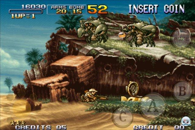 Auch auf den mobilen Plattformen hat Metal Slug 3 nichts von seinem Ballerwahnsinn verloren - außerdem sieht's immer noch verteufelt gut aus!