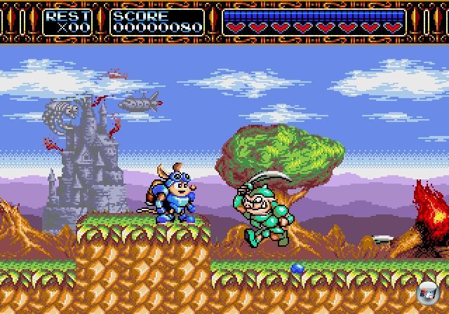<br><br>...Rocket Knight Adventures (1993) - das nicht nur seinerzeit ein spielerisch und technisch faszinierendes Jump-n-Run war, sondern auch Teil einer mittelschweren Sensation. Denn erst auf dem Mega Drive kooperierte Konami mit Sega, und setzte einige seiner wichtigsten Serien auf das System um, inklusive Castlevania, Contra und den Teenage Mutant Ninja Turtles. 1876118