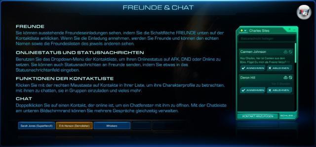 <b>Freundschaftssystem und Chat</b><br><br>Freunde können durch Charaktername plus Identifikationsnummer entweder manuell oder durch die Ingame-Dialoge (Punktestatistik) hinzugefügt werden, oder indem ihr die eMail-Adresse bzw. den Facebook-Account (völlig optional) als Kontaktdaten angibt. Allerdings sind Freunde in StarCraft II nicht mehr anonym: Freunde können den echten Namen sowie dessen Charaktere in allen Blizzard-Spielen sehen. Daher müssen Freundschaftsanfragen immer erst von beiden Seiten bestätigt werden (Einladung und Bestätigung). 2129533