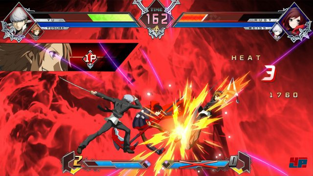 Bei den Effekten zieht Arc System alle Register, doch die Einbindung der verschiedenen Prügelserien zeigt sich visuell uneinheitlich.
