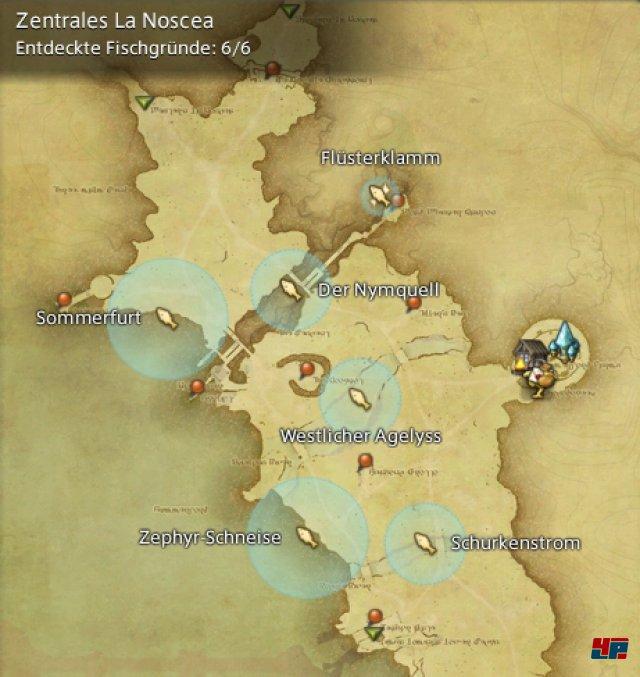 Final Fantasy XIV Online: A Realm Reborn - Fischgründe: La Noscea, Zentrales La Noscea