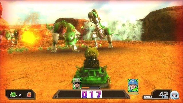 Auch mechanische Dinosaurier gehören zu den Gegnern...