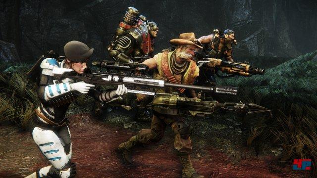 Vier Jäger - und jeder von ihnen hat individuelle Fähigkeiten.