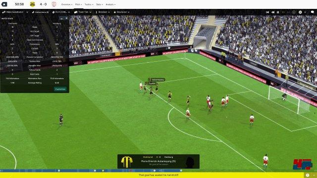 Das Ergebnis zwischen Dortmund und dem HSV ist mir persönlich zu dicht an der Realität, spricht aber für die Qualität der Matchberechnung.