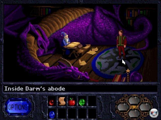 Das Spiel ist voller skurriler Charaktere - von denen Zauberer Darm und Drache Brandywine die kauzigsten sind.