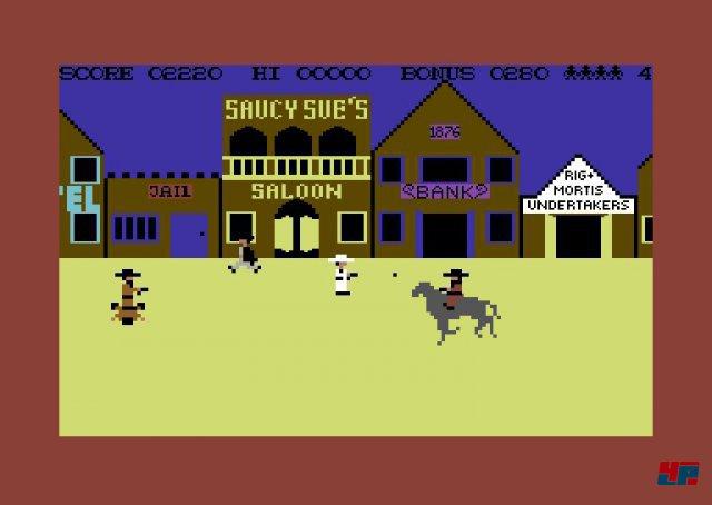 ... und so sah er im Videospiel anfangs aus: High Noon für den C64. (Quelle: Mobygames)
