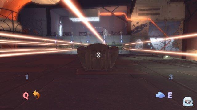 Erhöht man die Schwerkraft, macht man damit gleichzeitig auch alle Objekte massiver. Man kann sie dann zwar nicht mehr anheben, aber sie schützen einen auch vor tödlichen Laserstrahlen.