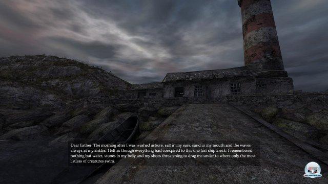 Zu Beginn des Spiels meldet sich eine Stimme. Warum ist man auf dieser Insel unterwegs?