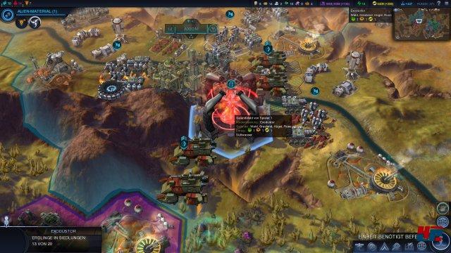 Da ist das rote Ding: Nach mehr als 300 Runden lockt das Warptor die Siedler von der Erde - der Spielsieg naht!