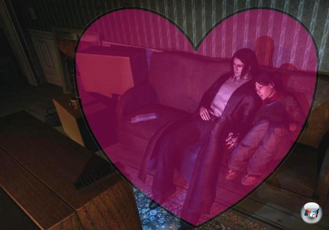 <b>Jackie Estacado und Jenny (The Darkness)</b><br><br>Eine tragische Liebe: Die Zukunft wird geplant, man schaut verliebt fern, man scherzt, man knutsch, man kuschelt. Und dennoch sollte es nicht sein - er wird von einem Dämon besessen, sie vor seinen Augen erschossen. Es sind gelegentlich halt doch nur die kleinen Momente, die zählen. Ach, Jenny. 1909423