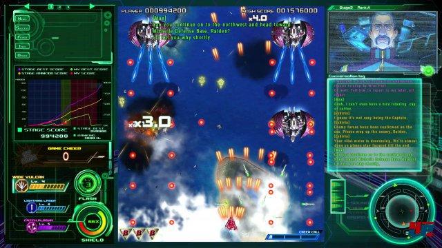 """Keine """"Bullet Hell"""" und dennoch fordernd: Raiden 5 bietet klassische Arcade-Ballerei."""