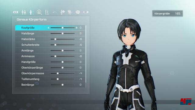Der per Charakter-Editor erstellte Avatar des Spielers, kann bis auf Geschlecht und Name auch nachträglich noch angepasst werden.