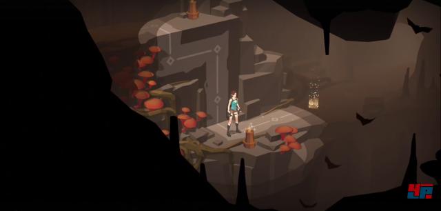 Rätsel zu lösen und Höhlen zu erkunden bestimmt das Spieldesign.