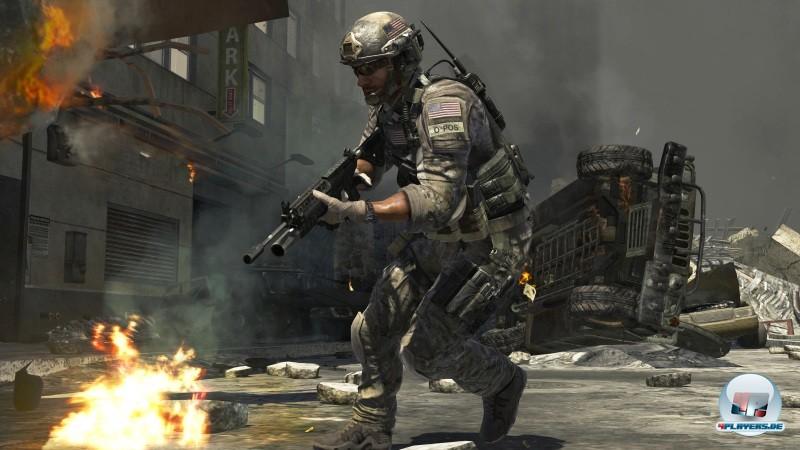 Das Bild eines CoD-Soldaten in voller Aktion. Gegenwärtig hat Activision noch keine allzu aussagekräftigen MW3-Bilder veröffentlicht.