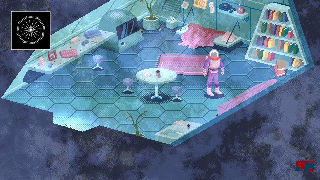 Irgendwo auf einem Planeten vor dem Exodus: In der Rolle des letzten Überlebenden einer Kolonie muss man mit Hilfe der KI seine Flucht vorbereiten.