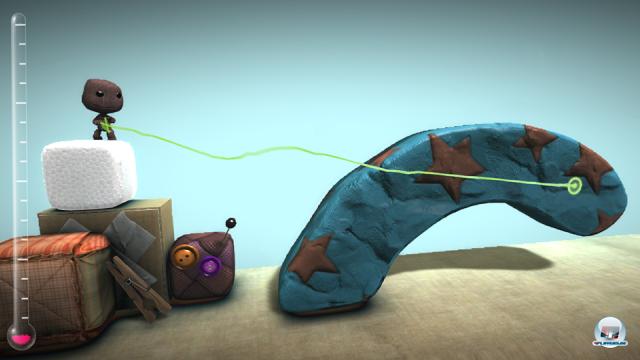 Endlich direkt zeichnen und durch die Menüs blättern: Bei LittleBigPlanet für Vita funktioniert das mit einem Fingerstrich.
