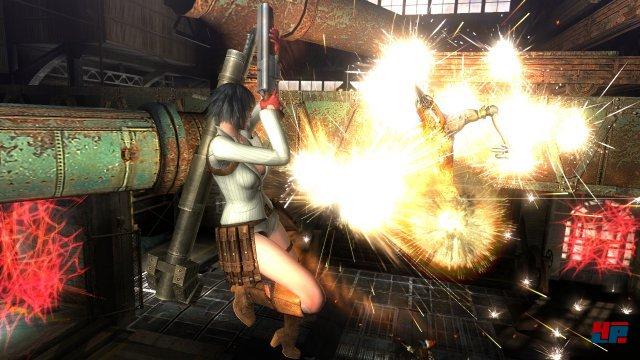 Die vor Waffen strotzende Lady gehört zum Trio frischer spielbarer Figuren.