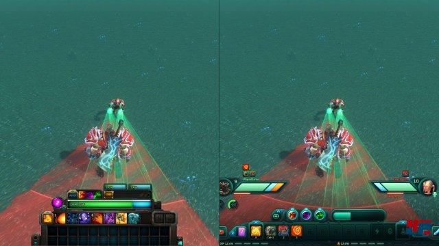 Interface-Vergleich: Links: Alt; Rechts: Neu