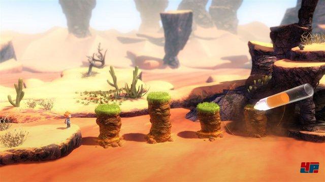 Mit dem magischen Stift zieht der Spieler Plattformen aus dem Boden, zeichnet Äste und andere Dinge.