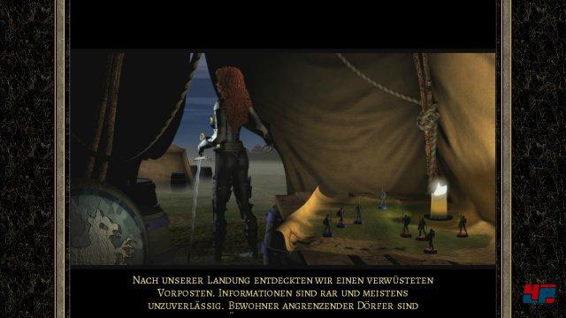 Pr�sentation, Story und Texte wirken heutzutage unfreiwillig komisch. Heroes of Might & Magic wurde zun�chst von 3DO entwickelt - der erste Teil erschien 1995.