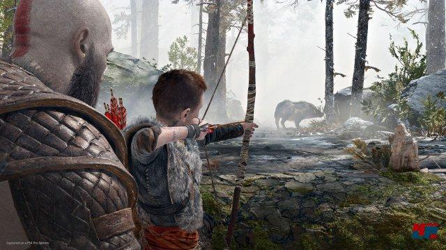 Für Kratos steht fest, dass der Junge nicht stark genug für die Reise ist. Nur widerwillig nimmt er ihn mit.