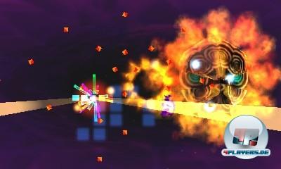 Die Feuerringe aus der Tiefe des Raumes nutzen den 3D-Screen geschickt aus.