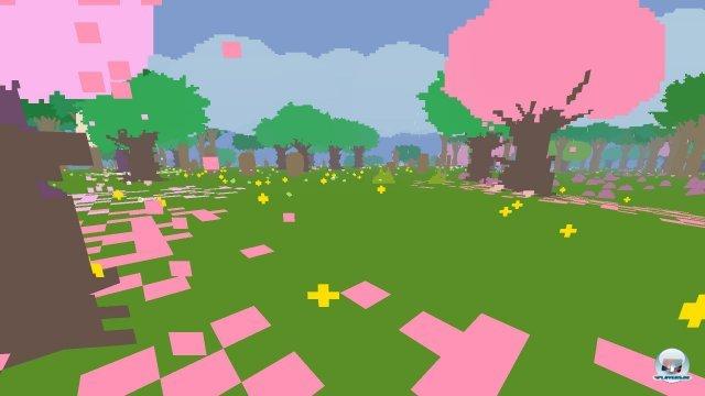 Pixel statt Pinsel: Proteus erschafft aus kleinen Quadraten eine malerische Welt.