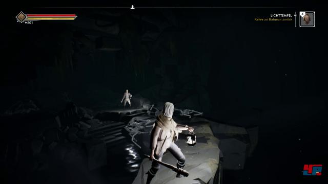 Atmosphärisch: In Höhlen wird die Spielwelt oft nur vom Schein der eigenen Laternen erhellt.