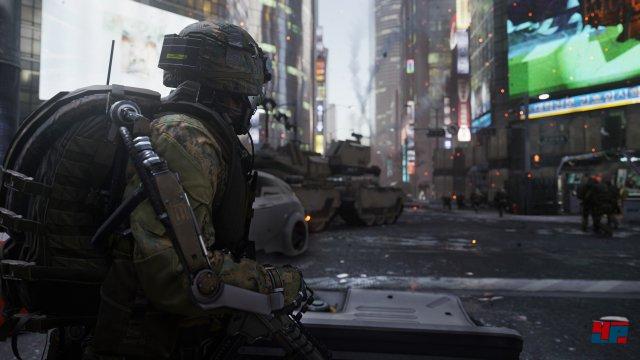 Call of Capitalism: In der nahen Zukunft von Advanced Warfare haben private Unternehmen auf dem Schlachtfeld noch mehr zu sagen.