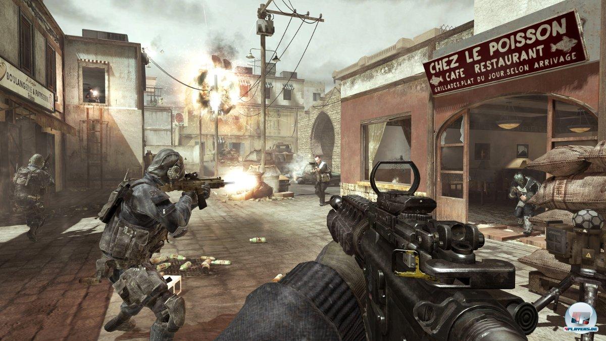 Das tragbare Abwehrgeschütz am rechten Bildrand kann RPG-Raketen aus der Luft fischen