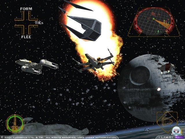 <b>Star Wars: Rogue Squadron II - Rogue Leader</b><br><br> Der Name Rogue Squadron sorgt bei Nintendo-Fans noch immer für feuchte Augen. Schuld daran ist vor allem der zweite Teil von Factor 5s Weltraum-Oper, welcher ebenfalls zum Start erschien. Vor bombastische Kulisse griff man Tie-Fighter, den Todesstern und andere Schiffe des Imperiums an. 2347002