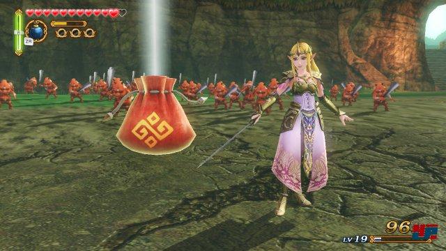 Auch Prinzessin Zelda greift zu den Waffen.