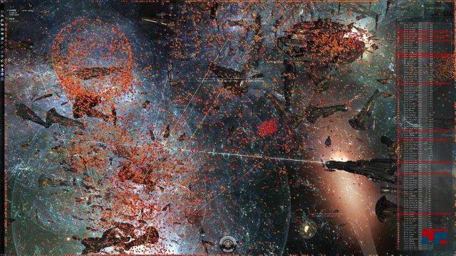 Gigantisch: Jeder der kleinen orangefarbenen Punkte ist ein Schiff oder eine Drone.